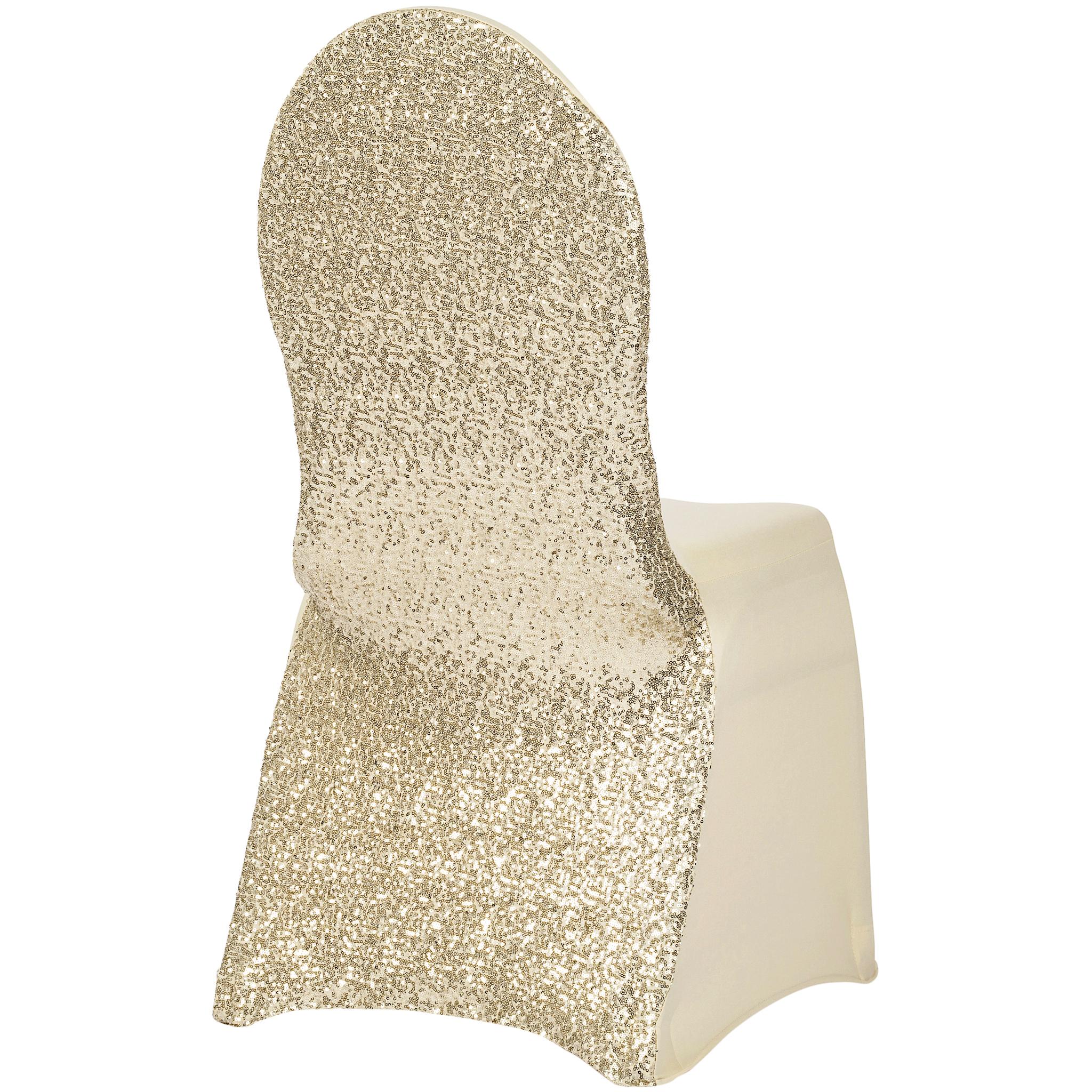 Glitz Sequin Stretch Spandex Banquet Chair Cover